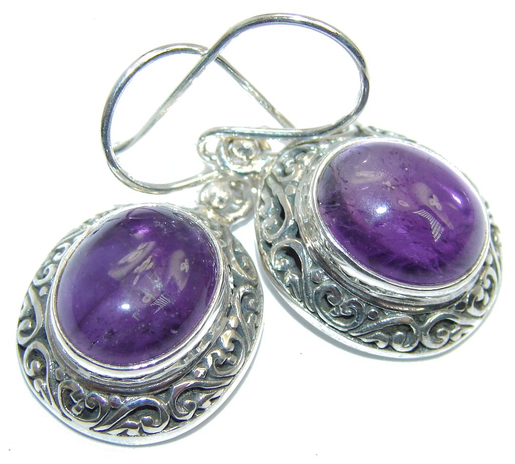 Perfect Purple Amethyst Sterling Silver earrings