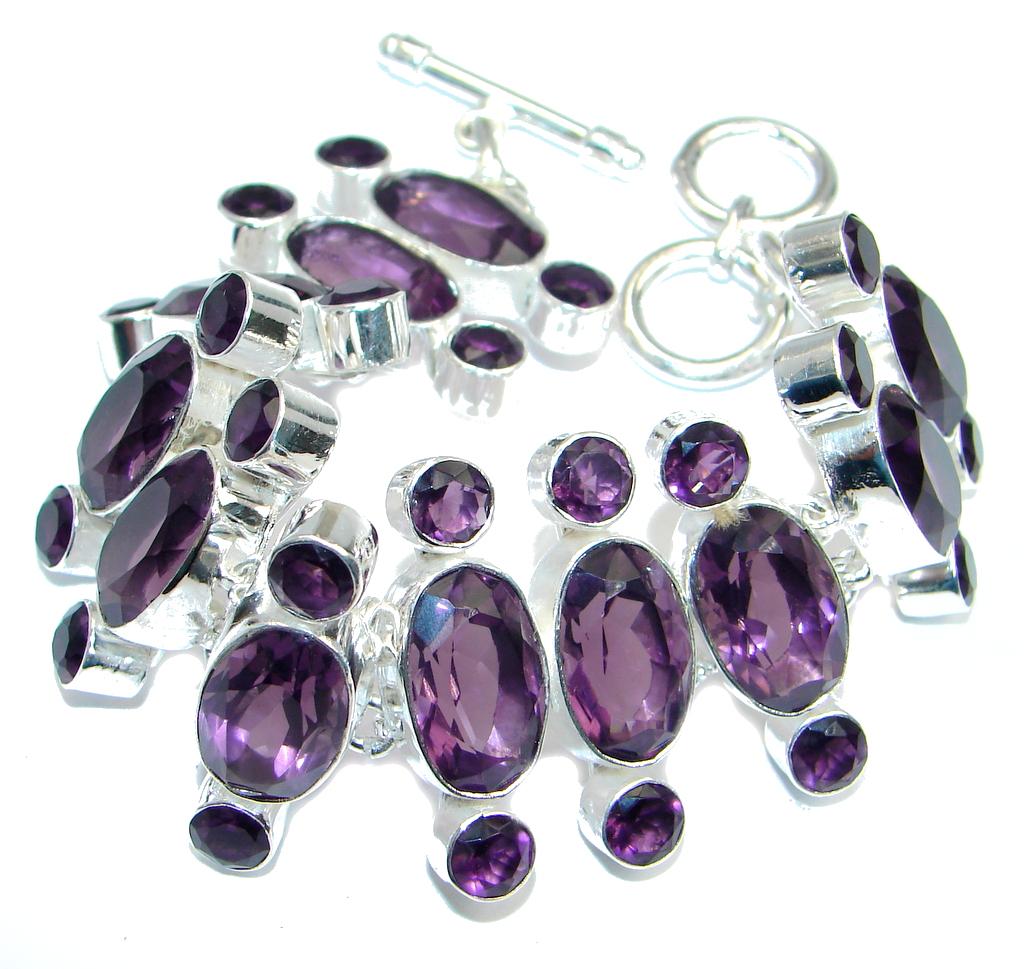 Great Style created Amethyst Sterling Silver Bracelet