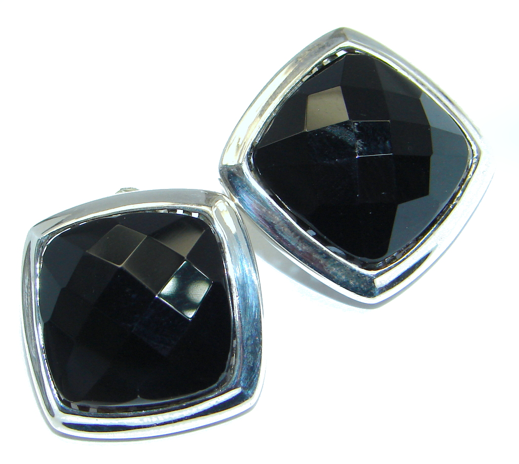 Just Perfect Black Onyx Sterling Silver earrings