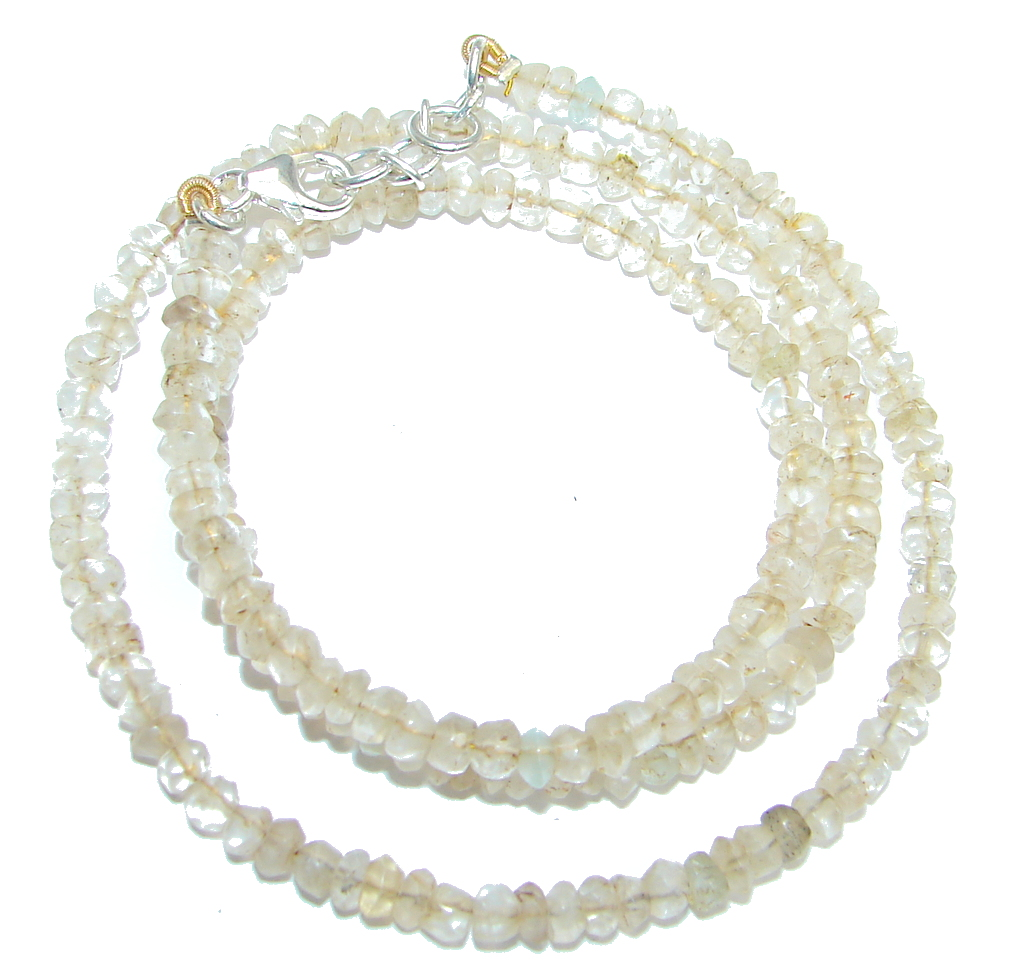 Amazing Genuine Citrine Sterling Silver Necklace