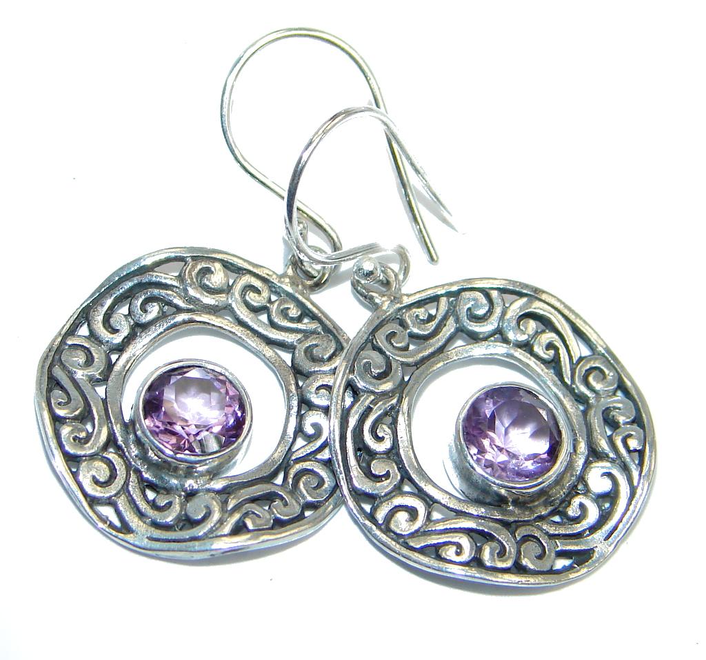Amethyst Sterling Silver handmade earrings