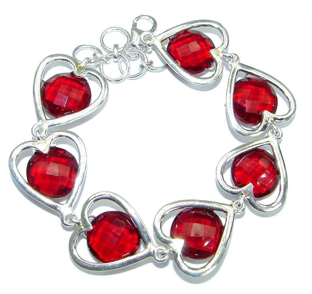 Chic Cubic Zirconia  .925 Sterling Silver handmade Bracelet