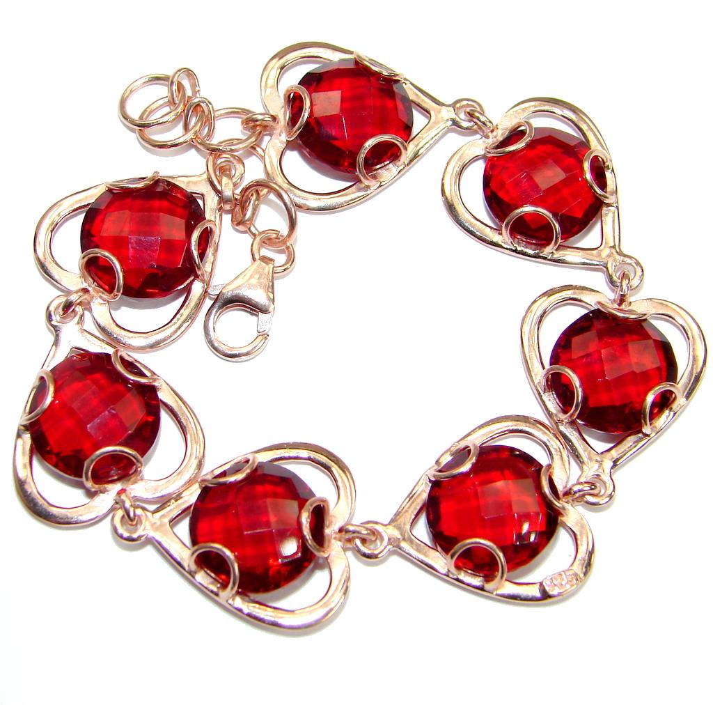 Chic Cubic Zirconia Rose Gold  .925 Sterling Silver handmade Bracelet