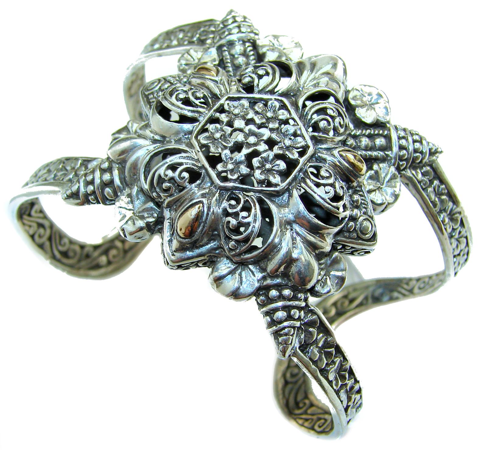 Huge Celtic Design .925 Sterling Silver handcrafted Bracelet / Cuff