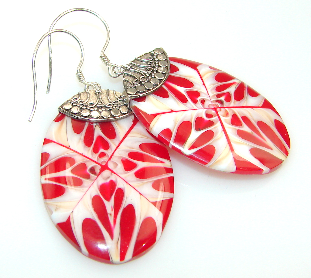 Excellent Quality Of Ocean Shell Sterling Silver earrings