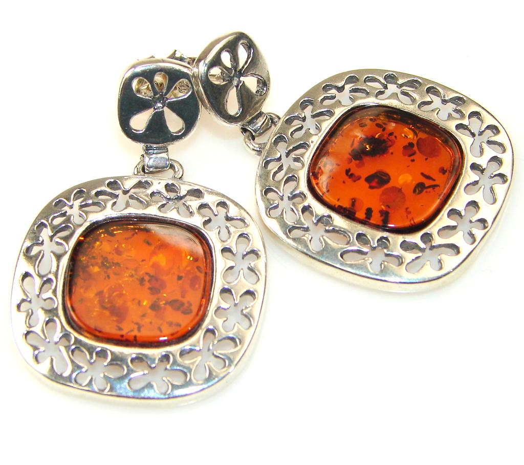 Daydreams Polish Amber Sterling Silver earrings
