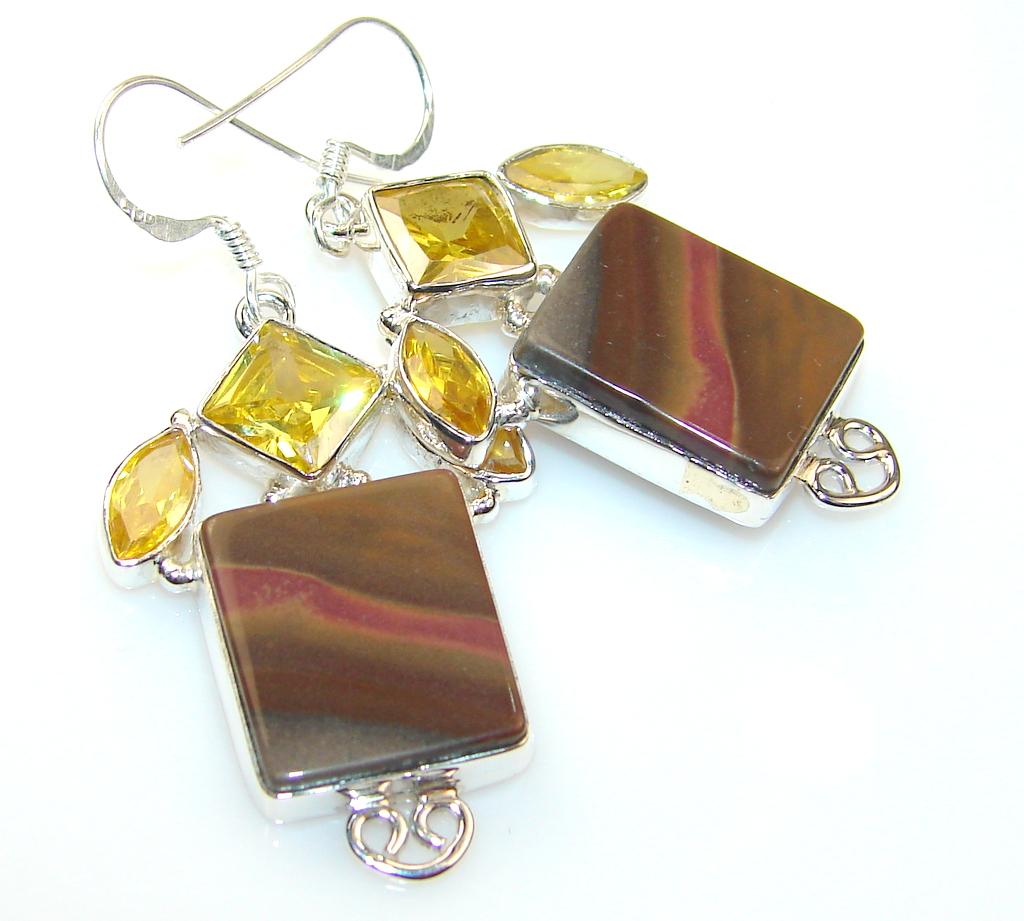 Classy Wild Horse Jasper Sterling Silver earrings