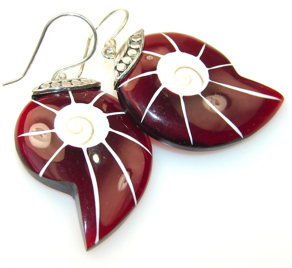 Evening Tide Shell Sterling Silver earrings