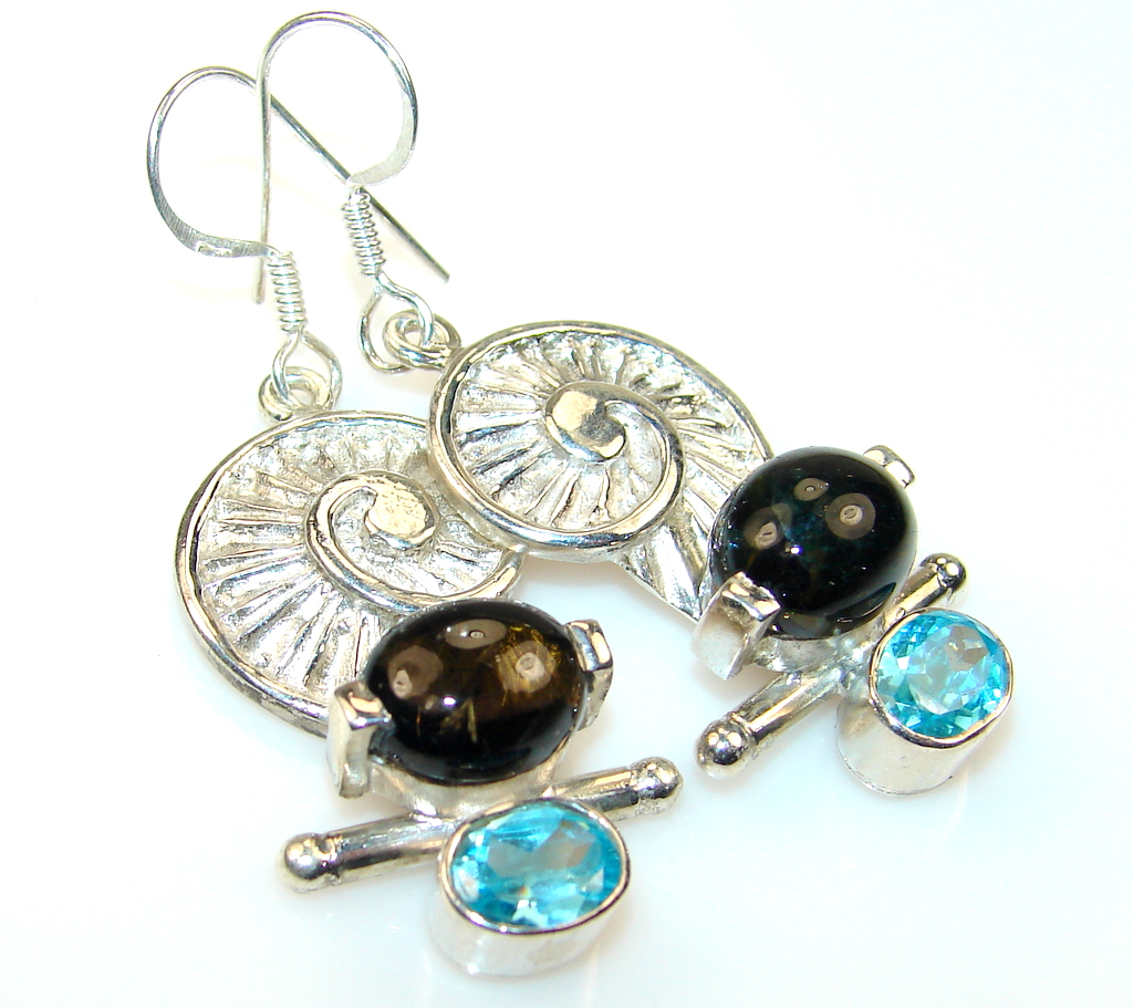 Delicate Tourmaline Sterling Silver earrings