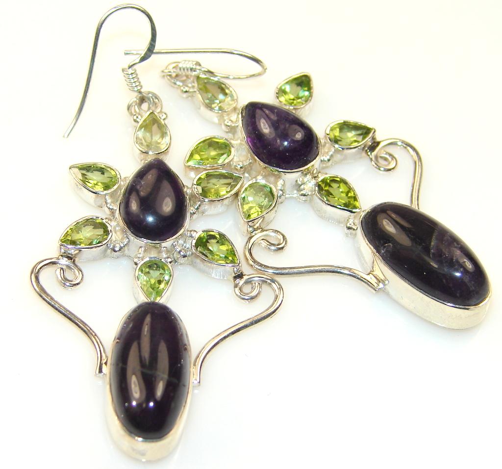 Empress Amethyst Sterling Silver earrings