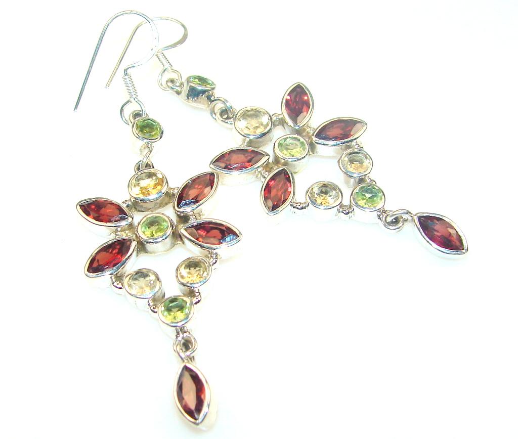 Empress Garnet Sterling Silver earrings