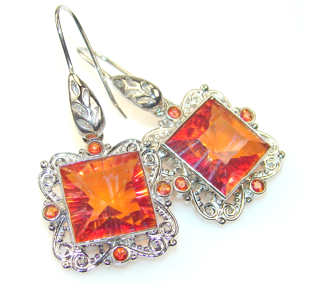 Fabulous Magic Topaz Sterling Silver earrings
