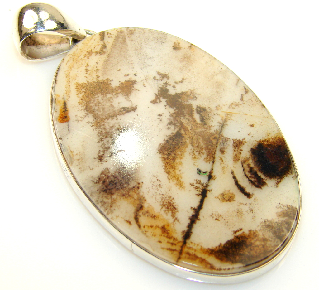 Awesome Scentic Agate Sterling Silver Pendant