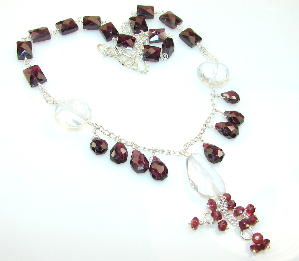 Gentle Crystal Sterling Silver necklace