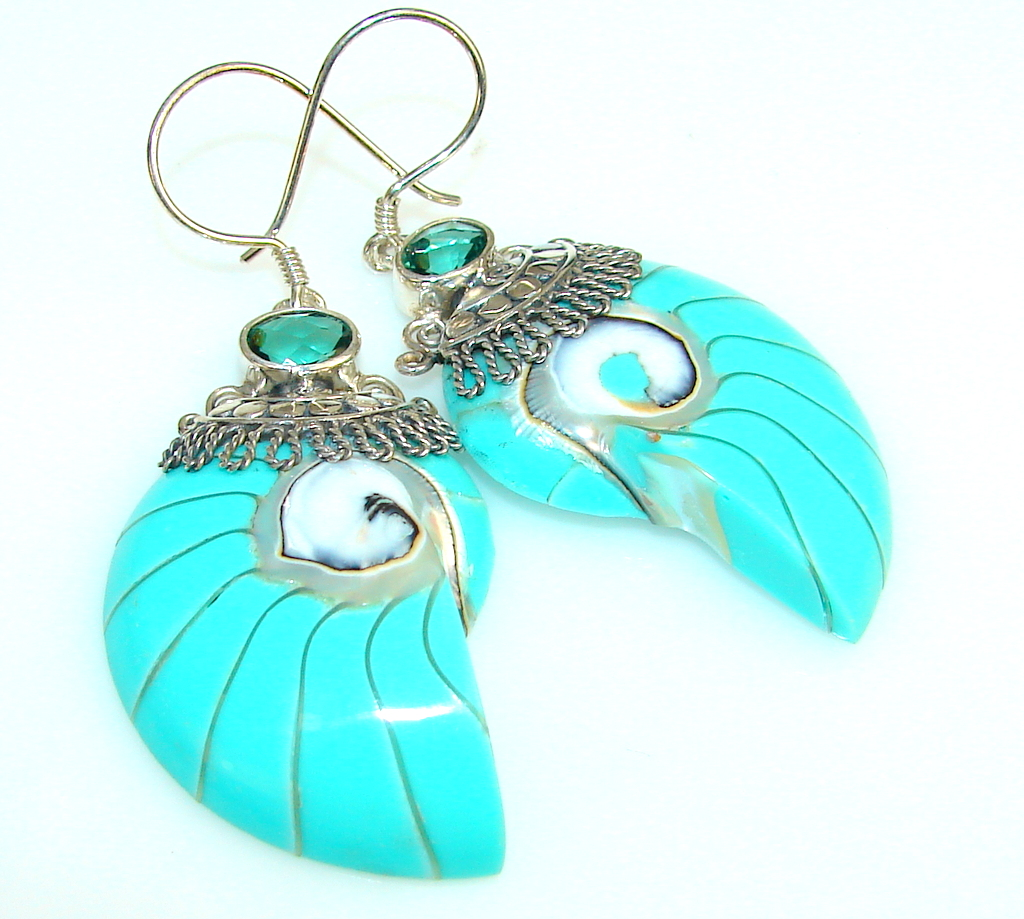 Excellent Color Of Shell Sterling Silver earrings