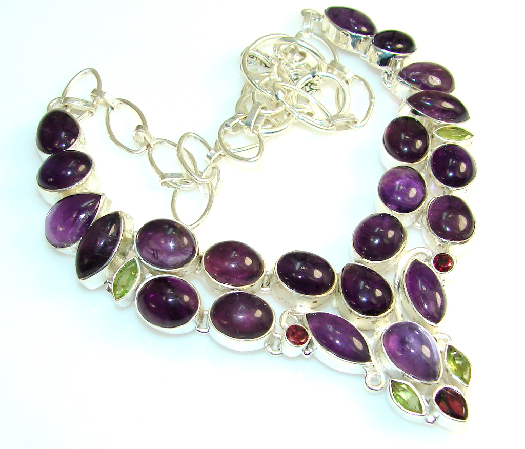 Path Of Life Amethyst Sterling Silver necklace
