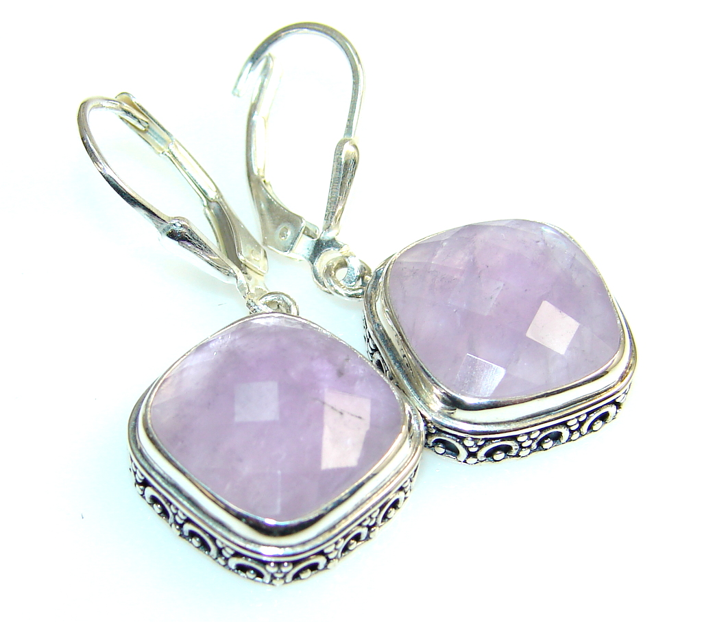 Awesome Color Of Amethyst Sterling Silver earrings