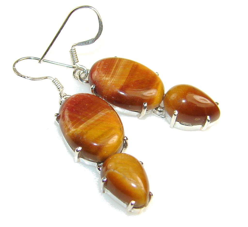 Amazing Tigers Eye Sterling Silver earrings