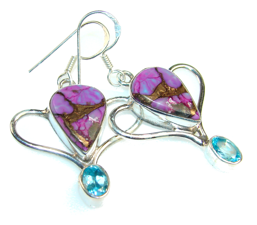 Empress Copper Turquoise Sterling Silver earrings