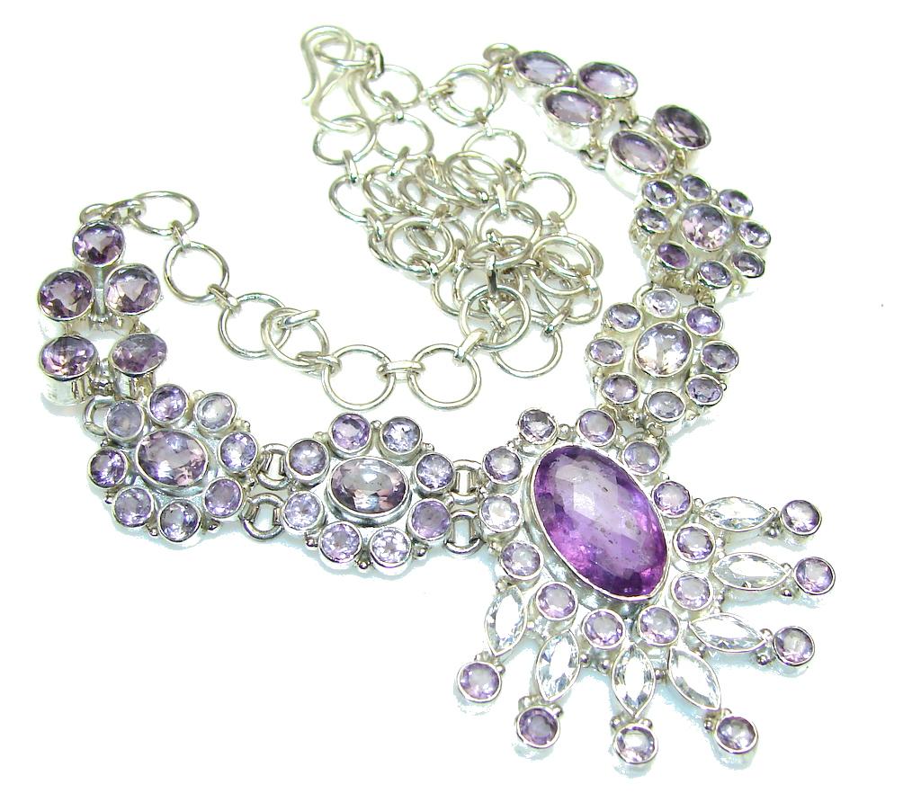 Empress Purple Amethyst Sterling Silver necklace