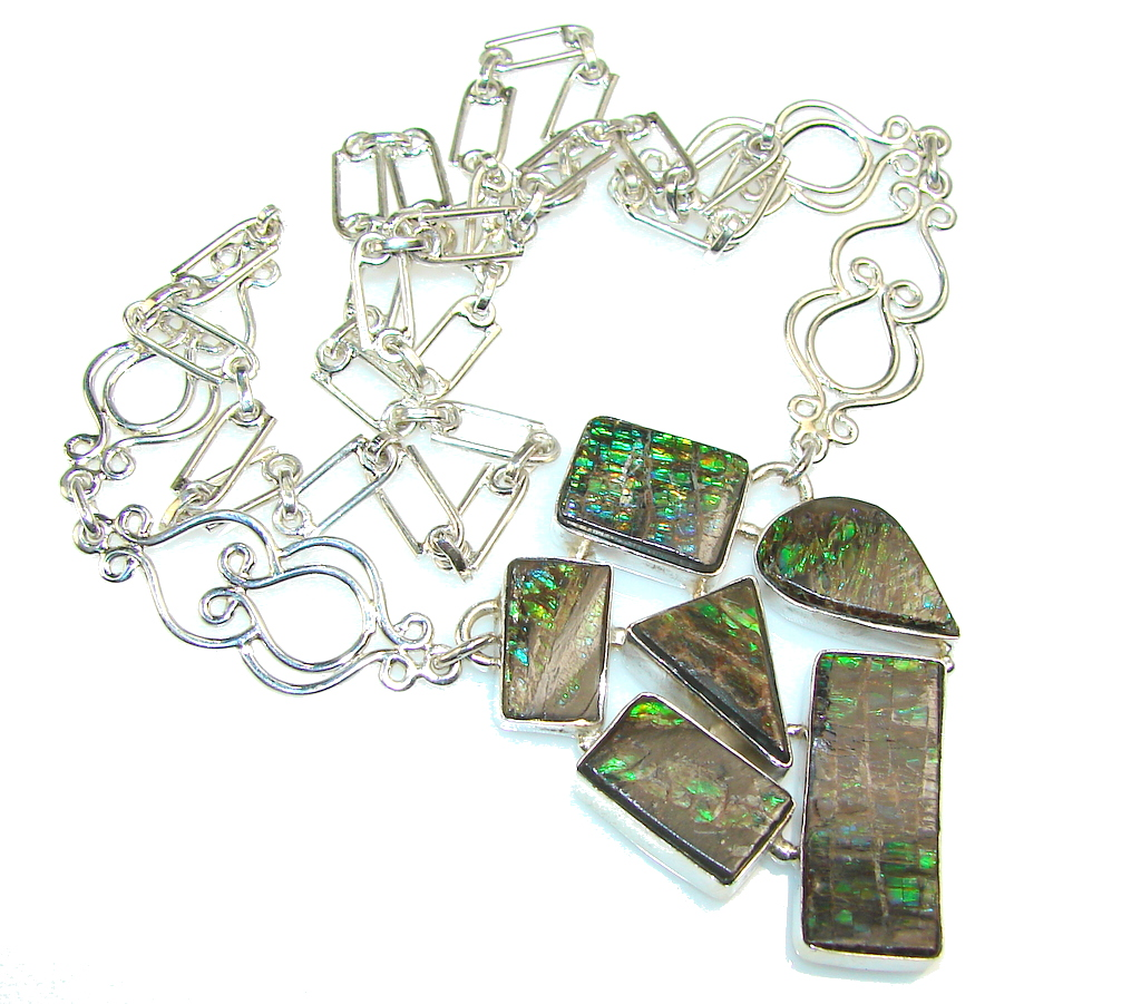 Great Impression Ammolite Sterling Silver necklace