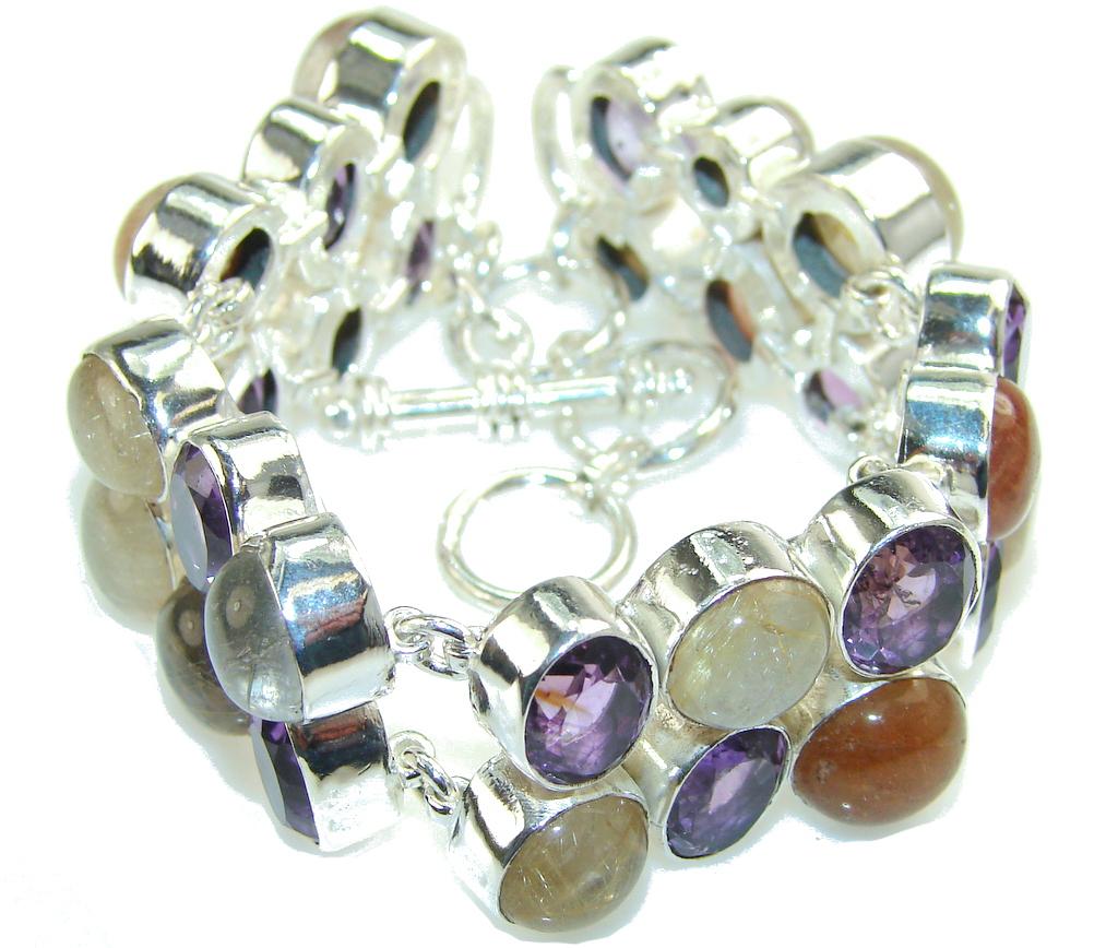 Scarlet Crown!! Purple Amethyst Sterling Silver Bracelet
