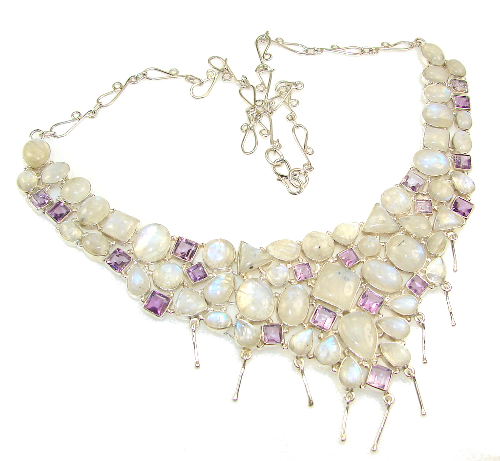Amazing Dream!! Moonstone Sterling Silver necklace