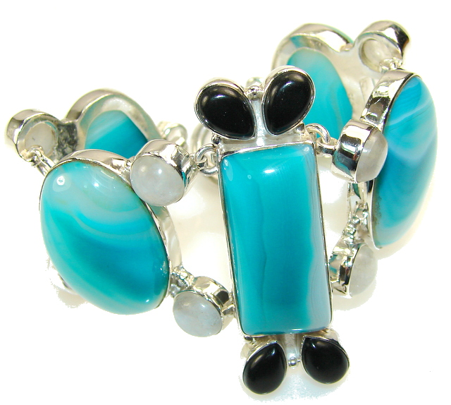 Fabulous Color of Botswana Agate Sterling Silver Bracelet