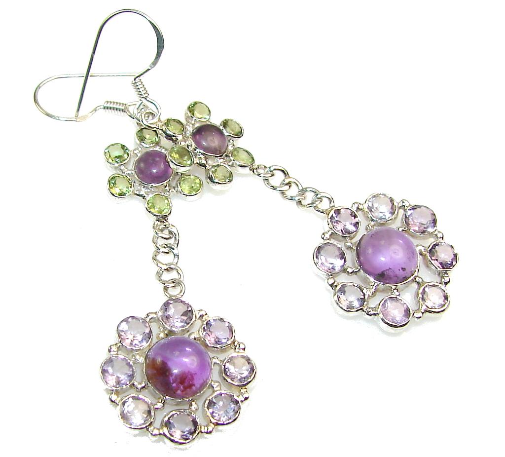 Make A Wish!! Purple Amethyst Sterling Silver earrings