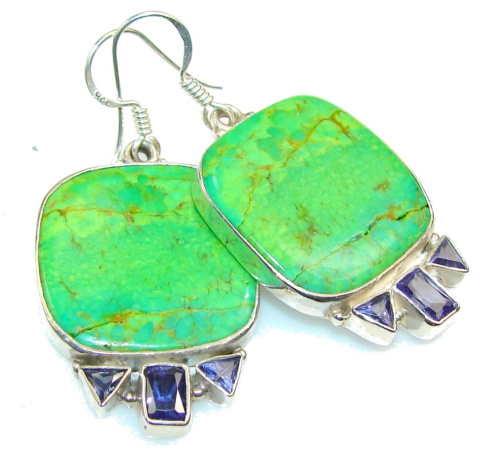 Garden Island!! Turquoise Sterling Silver earrings