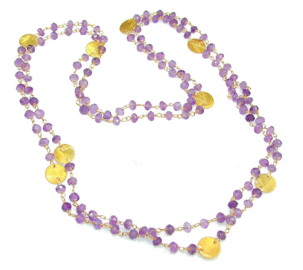 Natural Amethyst Sterling Silver necklace
