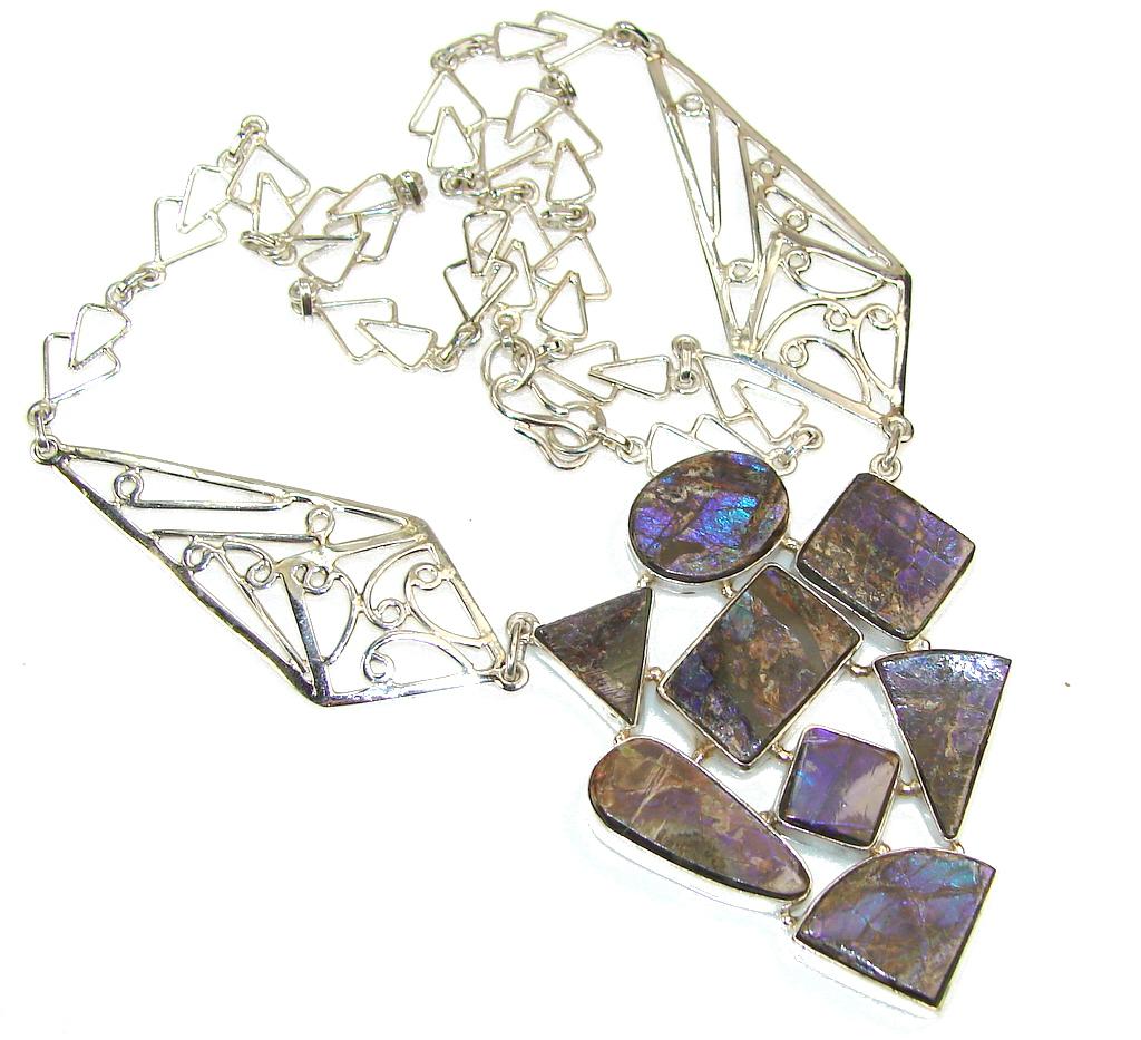 Maya Dreams!! Ammolite Sterling Silver necklace