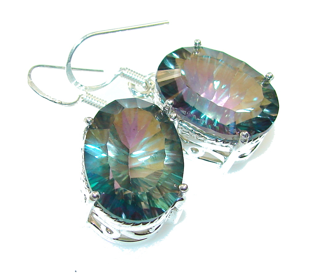 Awesome Color Changing Quartz Sterling Silver earrings
