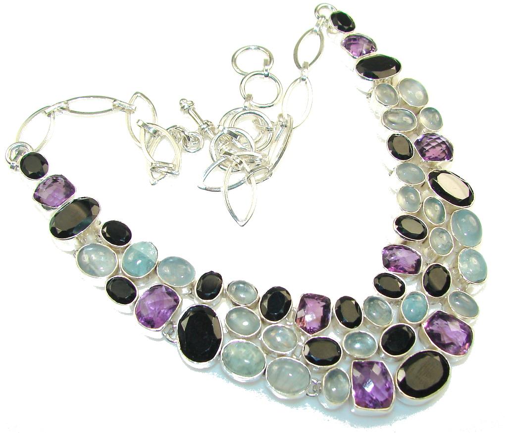 Aura Of Beauty!! Purple Amethyst Sterling Silver necklace
