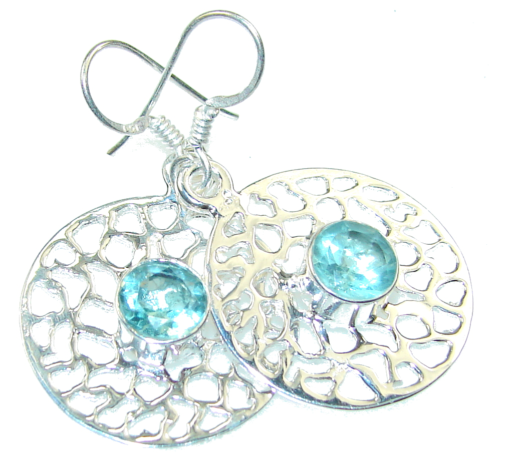 Delicate! Apatite Sterling Silver Earrings
