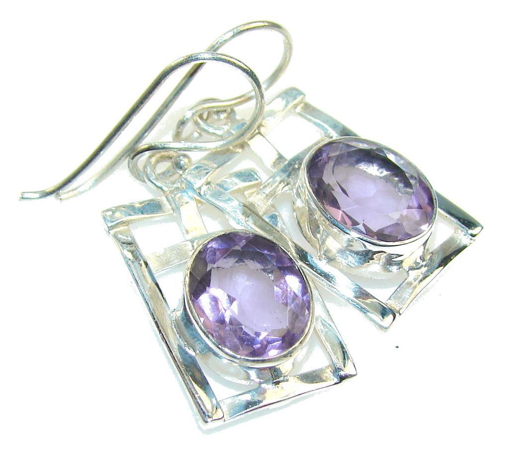 Lilac Kiss!!! Purple Amethyst Sterling Silver earrings
