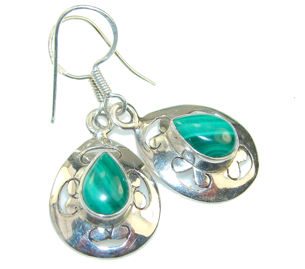 Green Passions Malachite Sterling Silver earrings