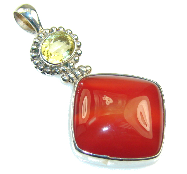 Basics Brown Agate Sterling Silver Pendant