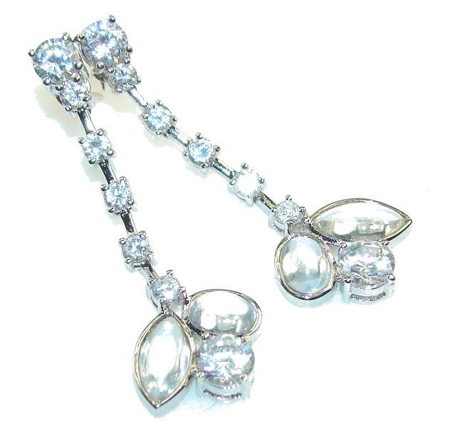 Delicate! White Topaz Sterling Silver earrings