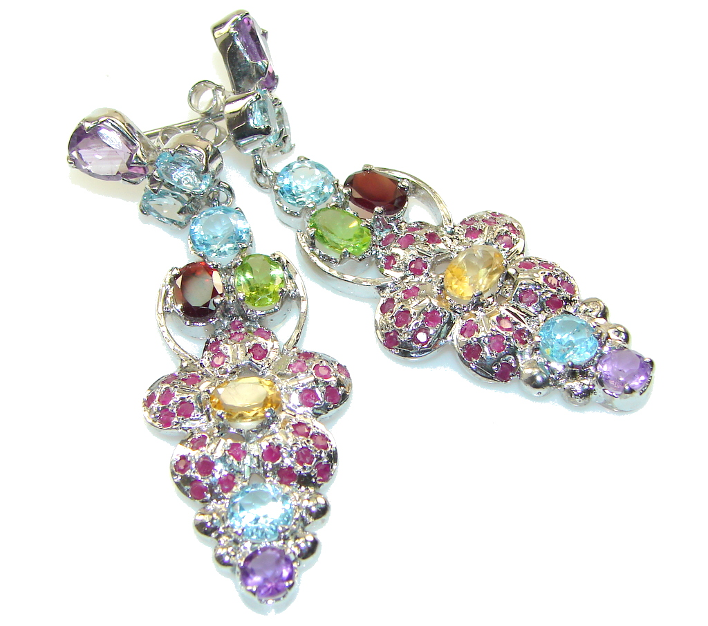 Lovina Paradise!! Purple Amethyst Sterling Silver earrings
