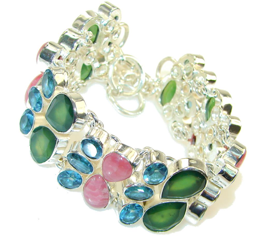 Green Paradise!! Aventurine Sterling Silver Bracelet