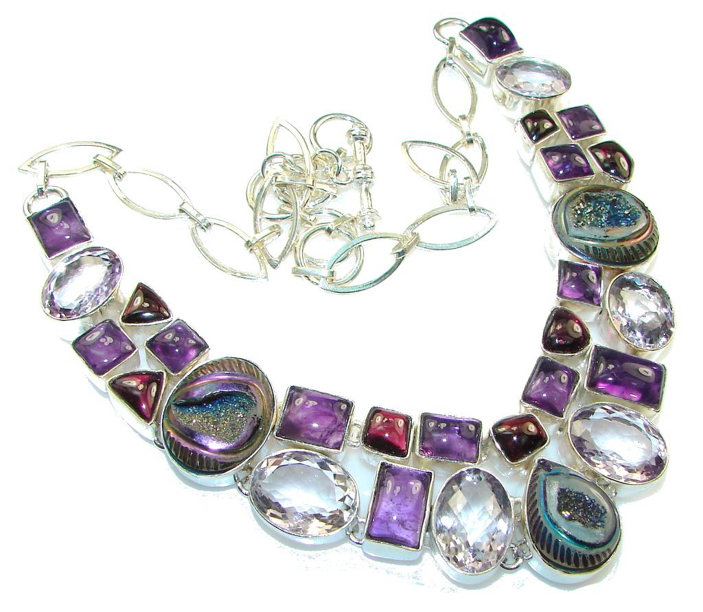 Maya Freedom!! Purple Amethyst Sterling Silver Necklace