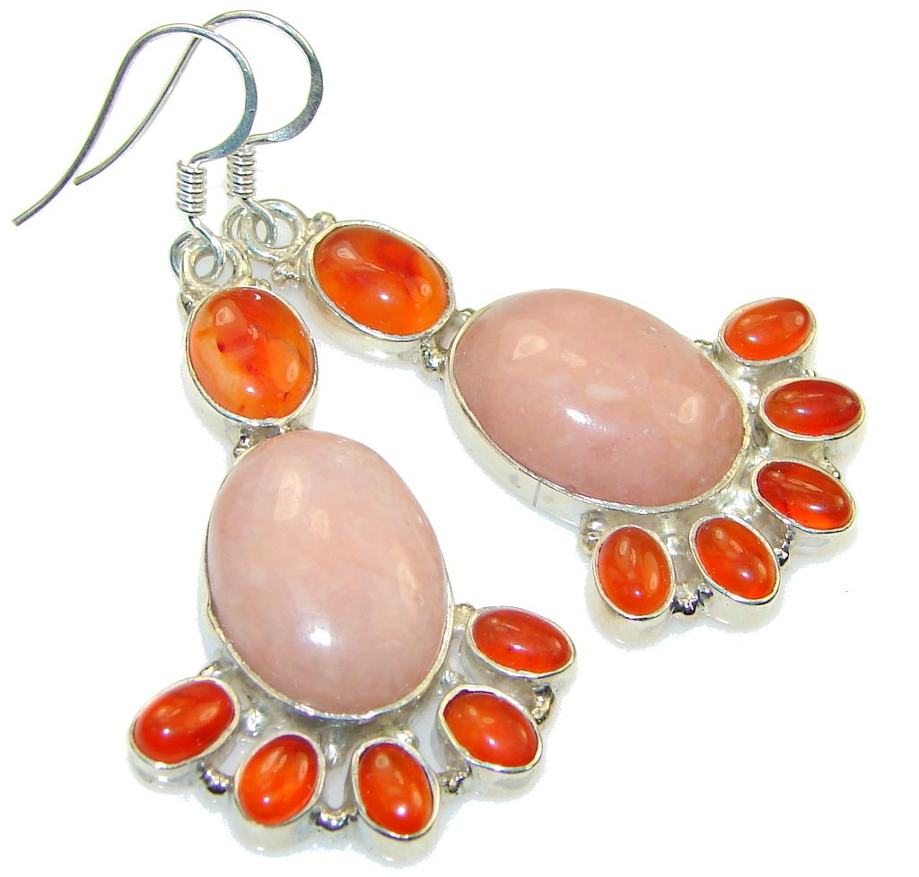 Classy! Pink Opal Sterling Silver earrings