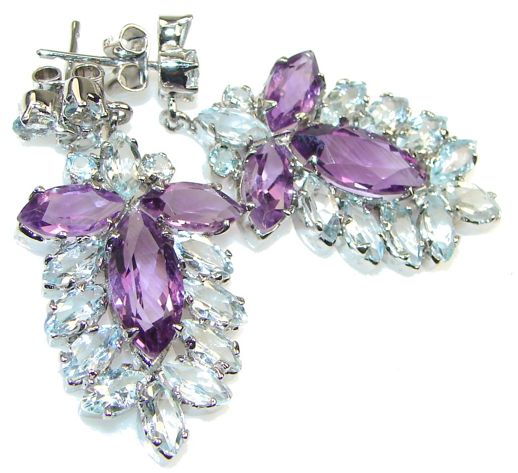 Faith In Love!! Purple Amethyst Sterling Silver earrings