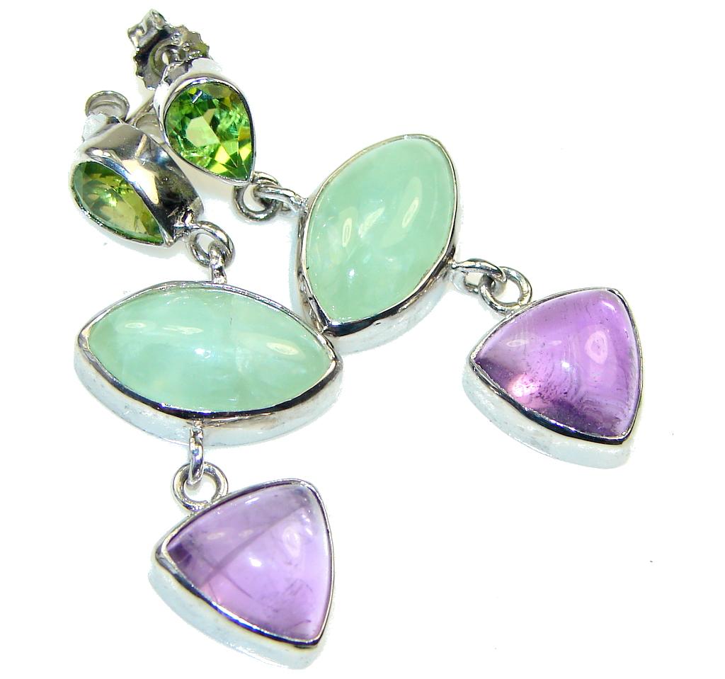 Amazing!! Purple Amethyst Sterling Silver earrings