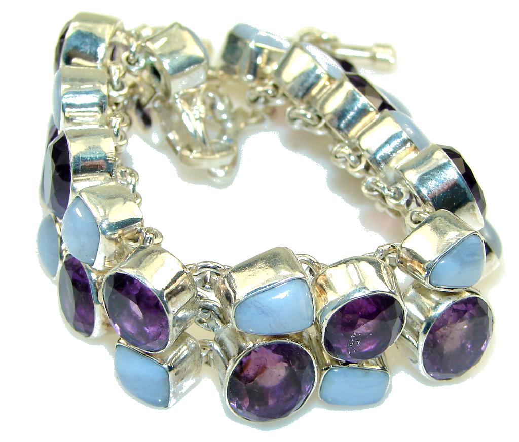 Aura Of Beauty!! Amethyst Sterling Silver Bracelet