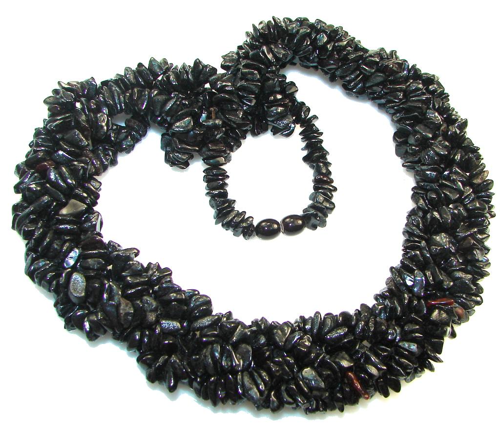 Amazing 5 line Genuine Dark Baltic Polish Amber necklace