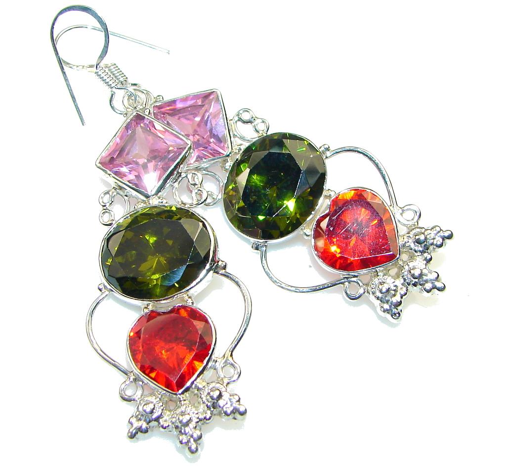Excellent! Multicolor Quartz Sterling Silver earrings
