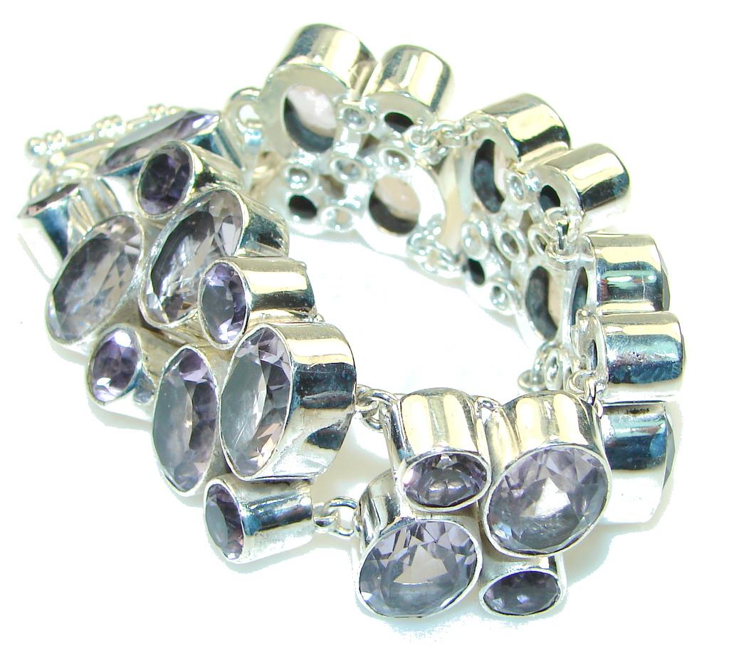 Stunning! Light Purple Amethyst Sterling Silver Bracelet