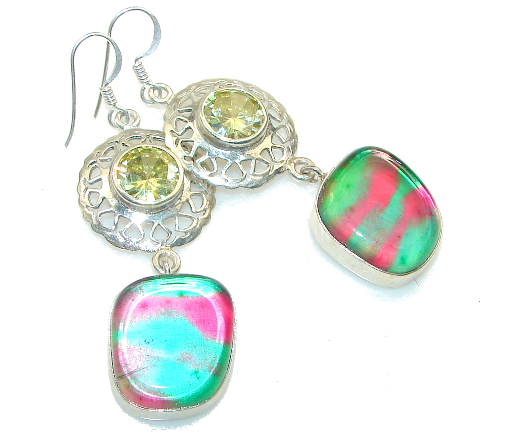 Fantastic! Dichroic Glass Sterling Silver earrings